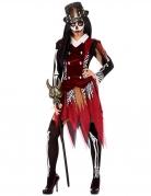 Voodoo-Hexenkostüm für Damen bunt