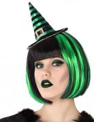 Zauberhaftes Hexen-Haarband für Erwachsene schwarz-grün-goldfarben