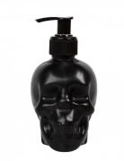 Totenschädel-Seifenspender schwarz