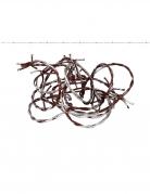 Blutige Stacheldraht-Deko silber-rot 270 cm