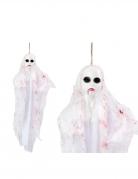Horror-Geist Hängedeko für Halloween weiss-rot