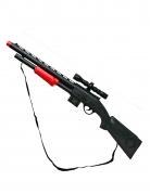 Spielzeug-Gewehr Kostüm-Accessoire schwarz-rot 68cm