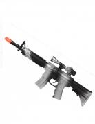 Maschinengewehr Spielzeug-Waffe Accessiure schwarz-silber 45cm