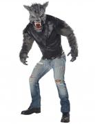 Grimmiger Werwolf Herrenkostüm schwarz-grau-rot