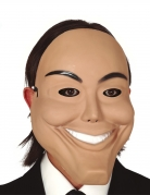 Psycho-Maske für Erwachsene beige-schwarz-weiss