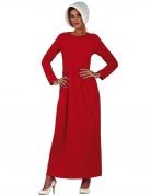 Dienstmädchen-Kostüm für Damen Magd-Kostüm rot-weiss