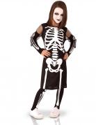 Kinder-Skelettkostüm schwarz-weiss