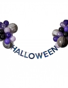 Halloween-Girlande mit Luftballons Halloween-Deko lila