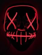 Horrorfilm LED-Maske für Erwachsene schwarz-rot