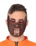 Kannibalen-Maske für Erwachsene Horror braun