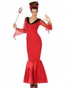 Elegantes Teufel-Kostüm für Damen rot-schwarz