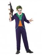 Verrückter Harlekin Kinderkostüm für Jungen violett-grün-orangefarben