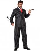 20er-Jahre Gangster-Kostüm für Herren schwarz-weiss