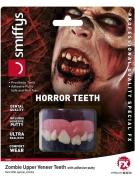 Horror-Zähne für Zombies und Monster Halloween-Make-up rot-weiss