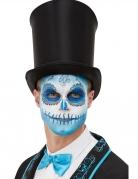 Tag der Toten Schminkset 5-teilig blau-weiss