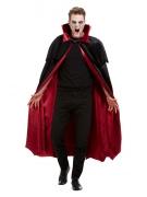 Deluxe Vampir-Umhang für Erwachsene schwarz-rot