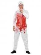 Horror-Forensiker Herren-Kostüm für Halloween weiss-rot
