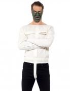 Kannibalen-Kostüm für Erwachsene weiss-grün