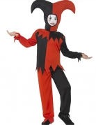 Verrücktes Harlekin-Kostüm für Jungen schwarz-rot