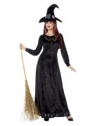 Halloween-Hexenkostüm für Damen schwarz-weiss