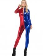 Sexy Einteiler für Damen rot-blau