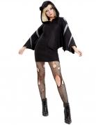 Fledermaus-Kostüm für Damen schwarz-grau