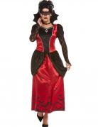 Elegantes Vampirgräfin-Kostüm für Damen rot-schwarz