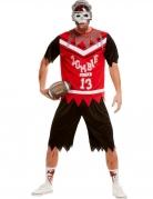 American Football Zombie-Kostüm für Herren schwarz-weiss-rot