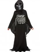 Unheimlicher Sensenmann Kinder-Kostüm schwarz-grau