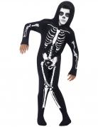 Skelettkostüm für Jungen schwarz-weiss