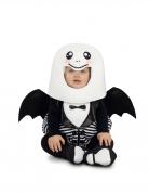 Niedliches Spukgespenst Baby-Kostüm schwarz-weiss