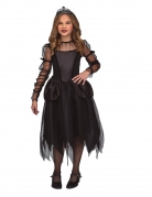 Gothic-Prinzessin-Mädchenkostüm Halloween-Kostüm schwarz