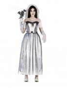 Elegantes Geisterbraut-Kostüm für Damen weiss-grau