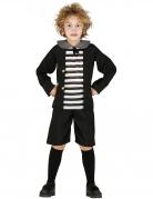 Geisterschüler-Kostüm für Jungen schwarz-weiss