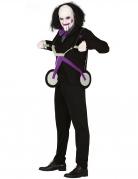 Psychopathisches Puppen-Kostüm für Herren schwarz-grau-violett