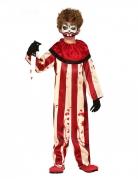 Halloween-Clown-Overall für Kinder rot-weiß