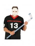 Hockey-Schläger mit Band Halloween-Accessoire grau-weiss 90 cm