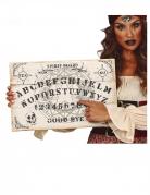 Ouija-Holzbrett Halloween-Tischdeko schwarz-weiß 48 x 32 cm