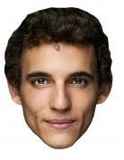 Bankräuber-Maske Miguel Herran Halloween-Pappmaske hautfarben-braun