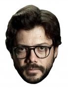 Alvaro Morte-Pappmaske für Herren Bankräuber-Maske hautfarben-braun