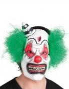 Horror-Clown-Maske weiß-schwarz-grün