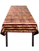 Horrorzirkus-Tischdecke rot-weiss 120 x 180 cm