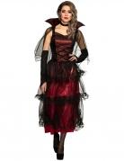 Edles Vampirkostüm für Damen rot-schwarz