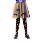 Kürbis-Strumpfhose für Mädchen schwarz-orange