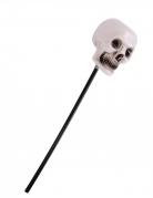 Totenkopf-Zepter Voodoo-Totenstab für Halloween schwarz-weiss 55 cm