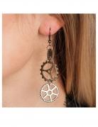 Steampunk-Ohrringe für Erwachsene silberfarben