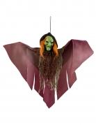 Grusel-Hexe Hängedekoration für Halloween bunt