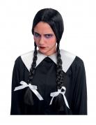 Verfluchte Schülerin Erwachsenen-Perücke für Halloween schwarz-weiss