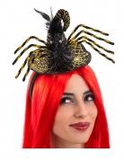 Mini-Hexenhut Spinne schwarz-goldfarben 12 cm