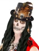 Verhexter Voodoo-Zylinder für Erwachsene schwarz-weiß-braun